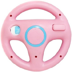 Pink Steering Wheel for Wii Mario Kart Racing Game without Packing