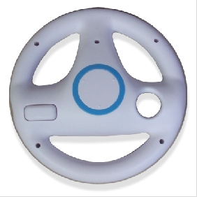 White Steering Wheel for Wii Mario Kart Racing Game without Packing