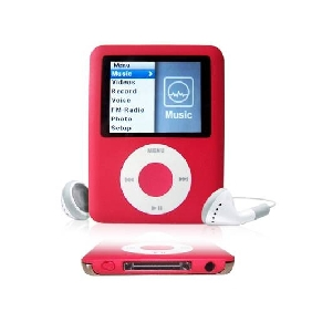 8GB Nano 3 Green Style MP3 Player (red)