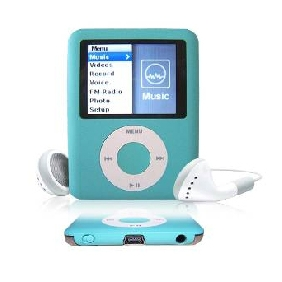 8GB Nano 3 Green Style MP3 Player (ice blue)