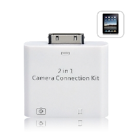 2-in-1 Camera Connection Kit USB SD Card Reader for iPad/iPad 2
