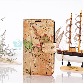 New Stand PU Leather Case Map Cover Skin for Samsung GALAXY NOTE 2